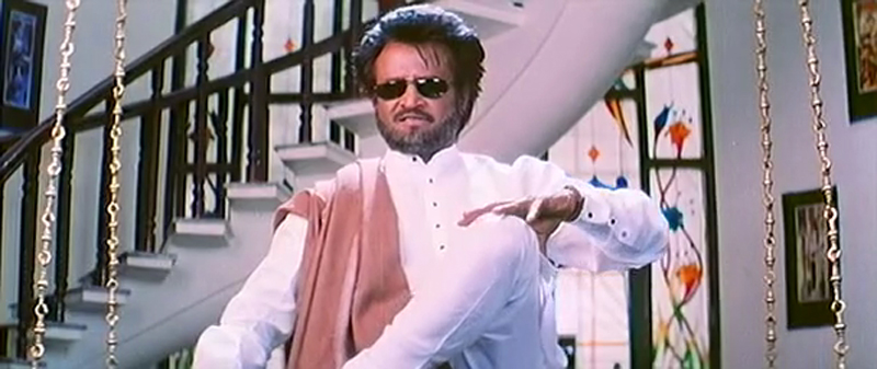 Image result for Padayappa Shawl Toss rajinikanth